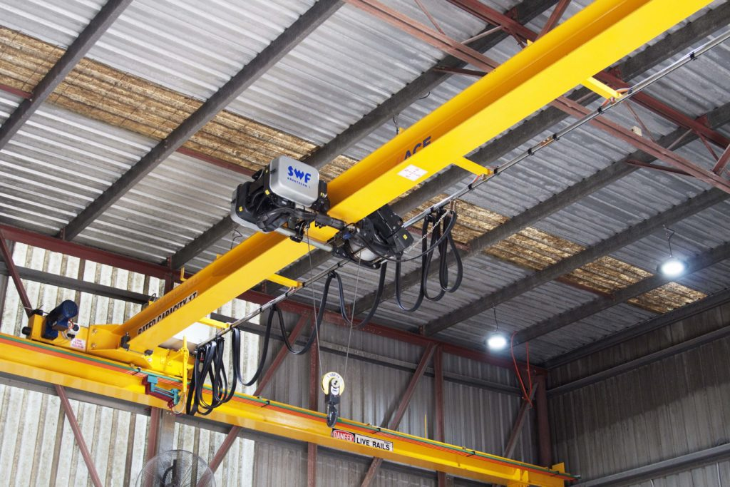ACE MHE Monorail and SWF Krantechnik Hoist